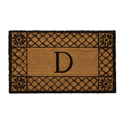 Lattice Monogram D Doormat