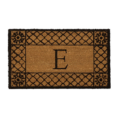 Lattice Monogram E Doormat