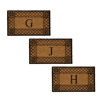 Lattice Monogram Doormat