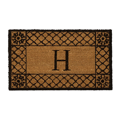 Lattice Monogram H Doormat