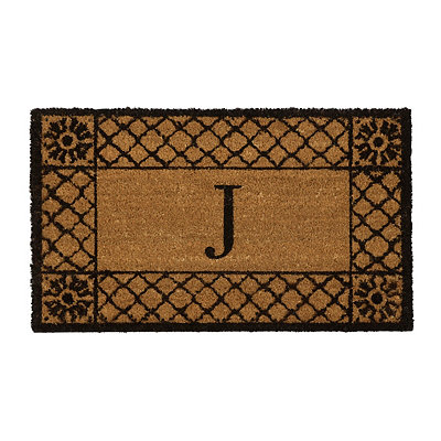Lattice Monogram J Doormat