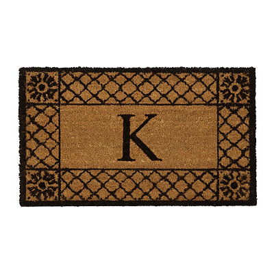 Lattice Monogram K Doormat
