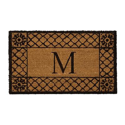 Lattice Monogram M Doormat