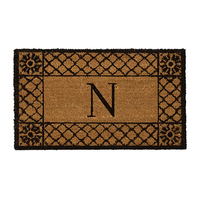 Lattice Monogram N Doormat