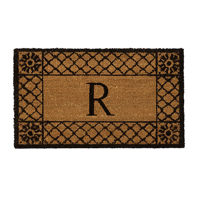 Lattice Monogram R Doormat