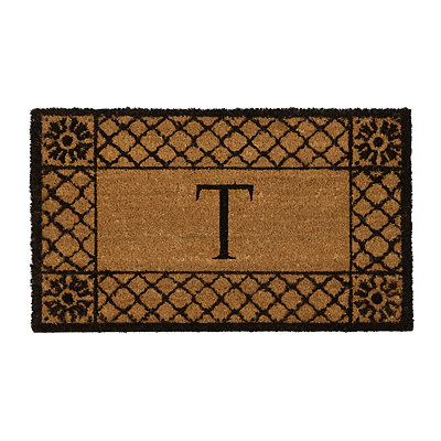 Lattice Monogram T Doormat