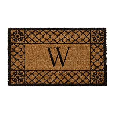 Lattice Monogram W Doormat