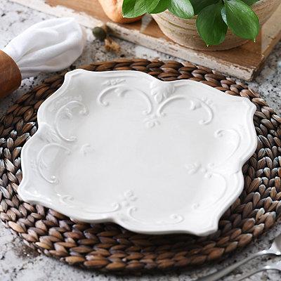 White Sweet Olive Dinner Plate