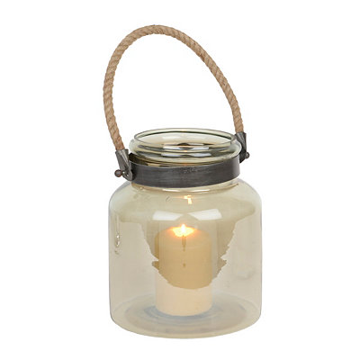Smoke Lustre Glass Lantern