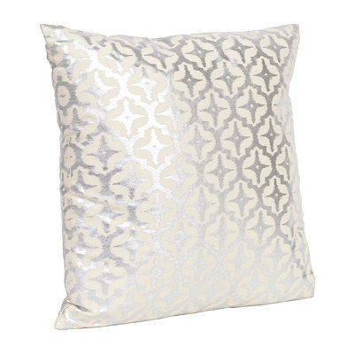 Starlight Silver Foil Pillow