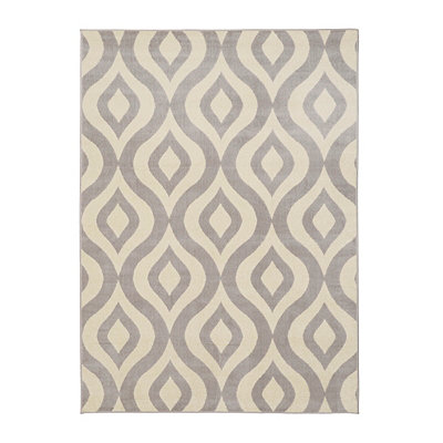 Gray Harper Ogee Area Rug, 5x7