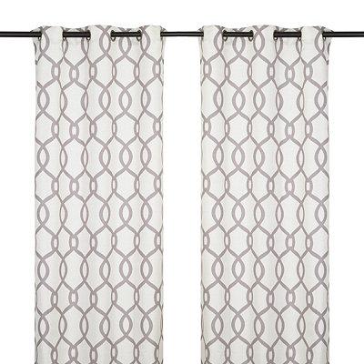 Kochi Black Pearl Curtain Panel Set, 84 in.