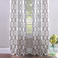 Kochi Black Pearl Curtain Panel Set, 84 in.