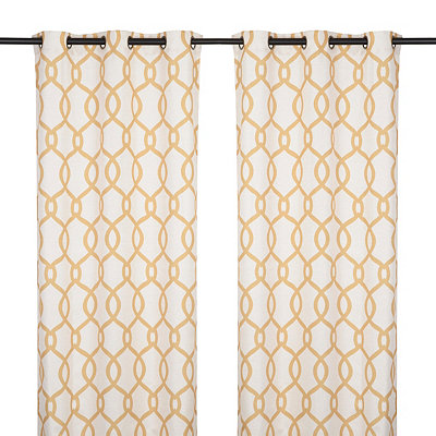 Kochi Yellow Curtain Panel Set, 84 in.
