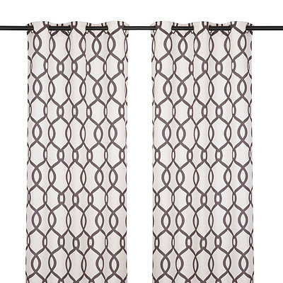 Kochi Latte Curtain Panel Set, 84 in.