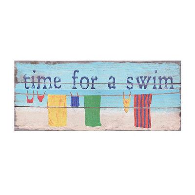 Time For a Swim Canvas Art Print