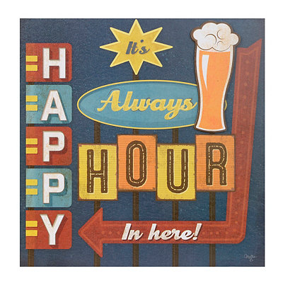 It's Always Happy Hour Canvas Art Print