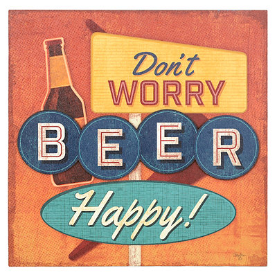 Beer Happy Canvas Art Print