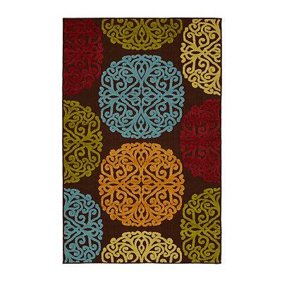 Multicolor Medallion Indoor/Outdoor Rug, 5x7