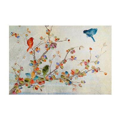 Birds and Floral Canvas Art Print