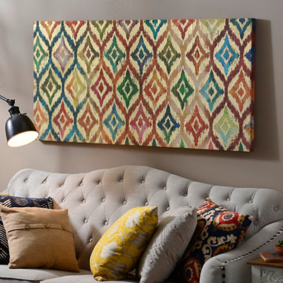 Kaleidoscope Ikat Canvas Art Print