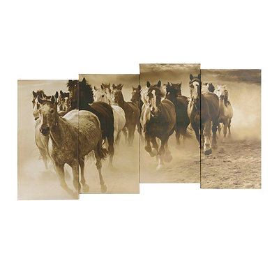 Galloping Horses Canvas Art Print