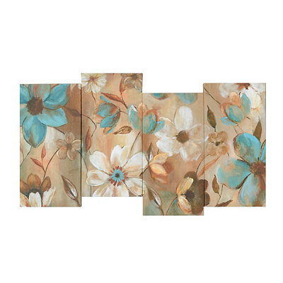 Blue & White Blooms Canvas Art Print