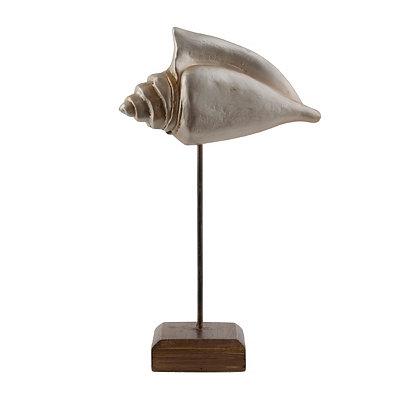 Silver Conch Shell Statue