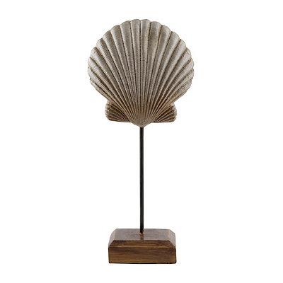 Silver Scallop Shell Statue
