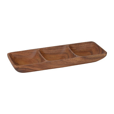 Acacia Wood Sectioned Serving Tray