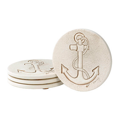 Absorbent Anchor Coasters, Set of 4