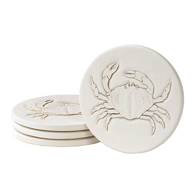 Absorbent Crab Coasters, Set of 4