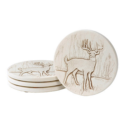 Absorbent Deer Coasters, Set of 4