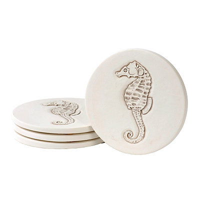 Absorbent Seahorse Coasters, Set of 4
