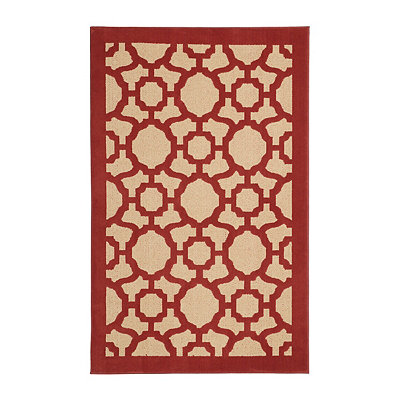 Corsica Red Area Rug, 5x8