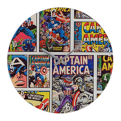 Captian America Vintage Comic Clock