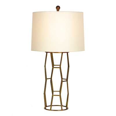Brass Geometric Metal Table Lamp