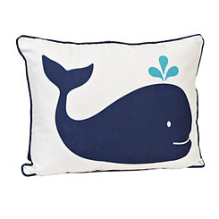 Navy Whale Pillow
