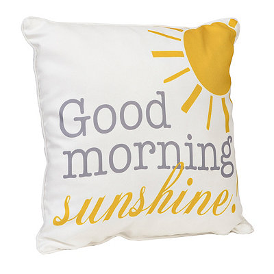 Yellow Good Morning Sunshine Pillow