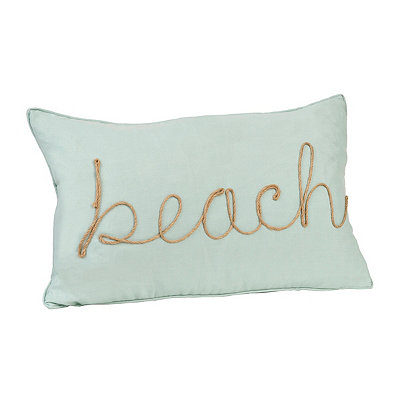 Jade Beach Rope Accent Pillow