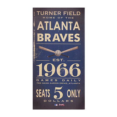 Vintage Braves Baseball Ticket Canvas Art Print