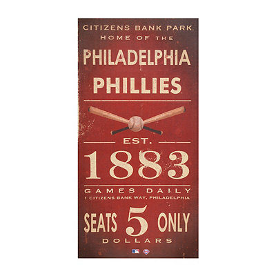 Vintage Phillies Baseball Ticket Canvas Art Print