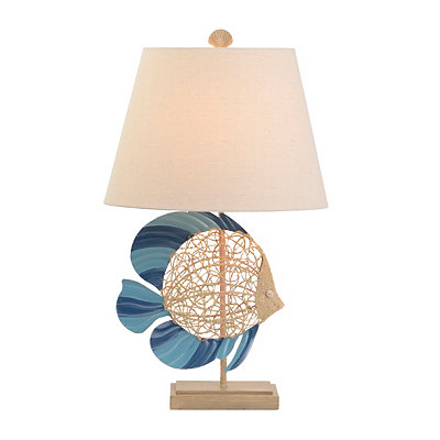 Sandy Blue Fish Table Lamp