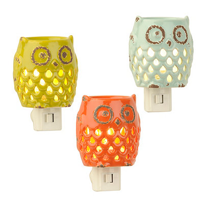 Colored Cutout Owl Night Lights