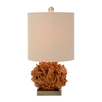 Metallic Gold Coral Table Lamp