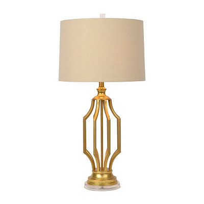 Leza Gold Leaf Table Lamp