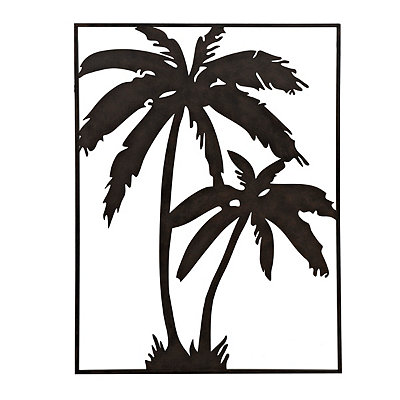 Palm Trees Metal Plaque