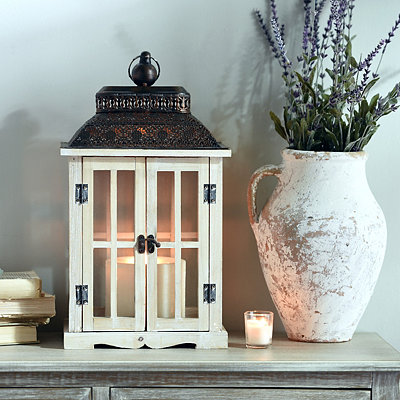 Bronze and White Double Lantern