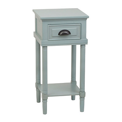 Light Blue Wooden Side Table