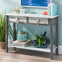 Coastal Weathered 2-Drawer Console Table